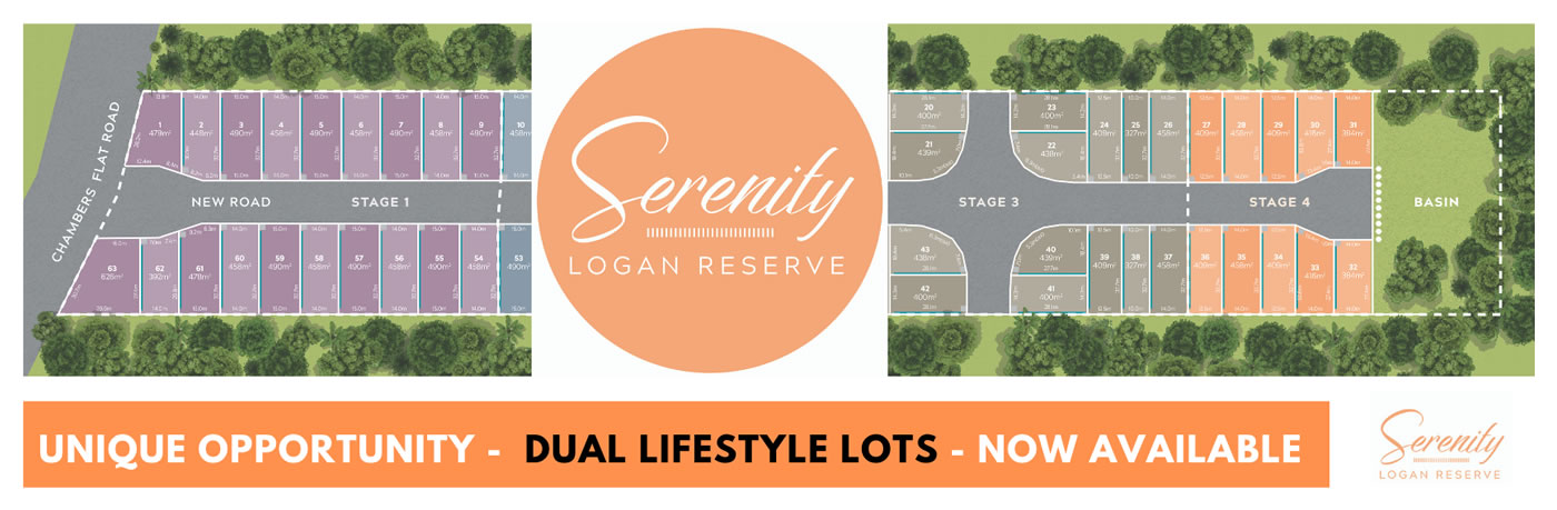 Serenity Estate: Dual Lifestyle Lots